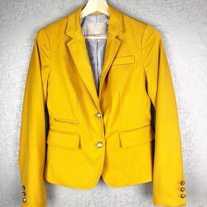 Banana Republic Mustard Yellow Blazer Jacket Sz 0
